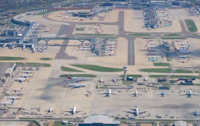 Вид аэропорта сверху.