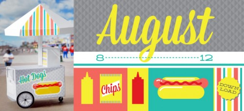 3D Hot Dog Cart calendar by Scout Creative