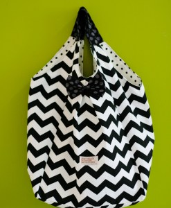 (Emily Bag) Chevron in Black