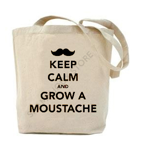 (Tote Bag) Keep Calm And Grow A Moustache