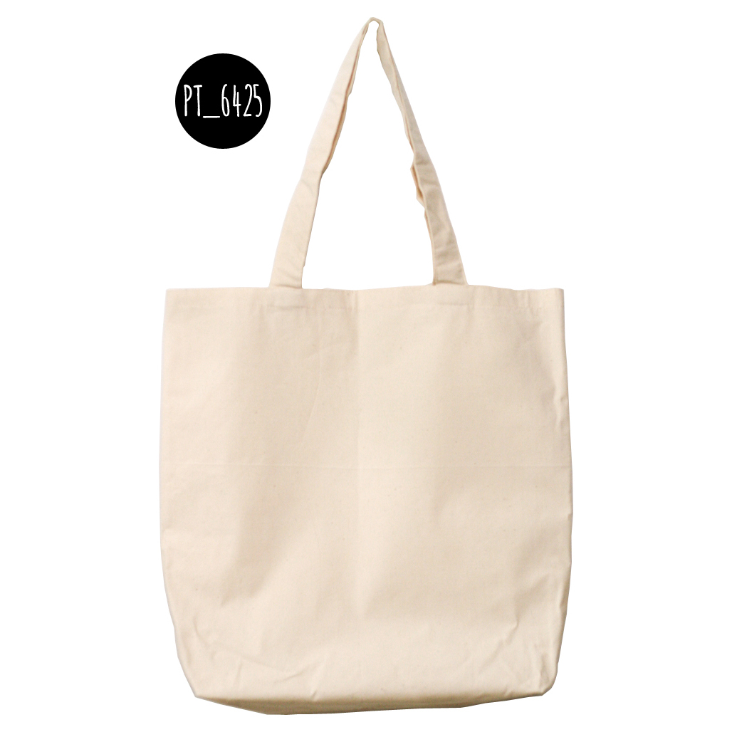 Plain Tote Bag with Fabric Strap - Canvas (ready stock)