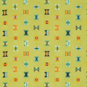 (Tula Pink) Acacia, Arrowheads In Lime
