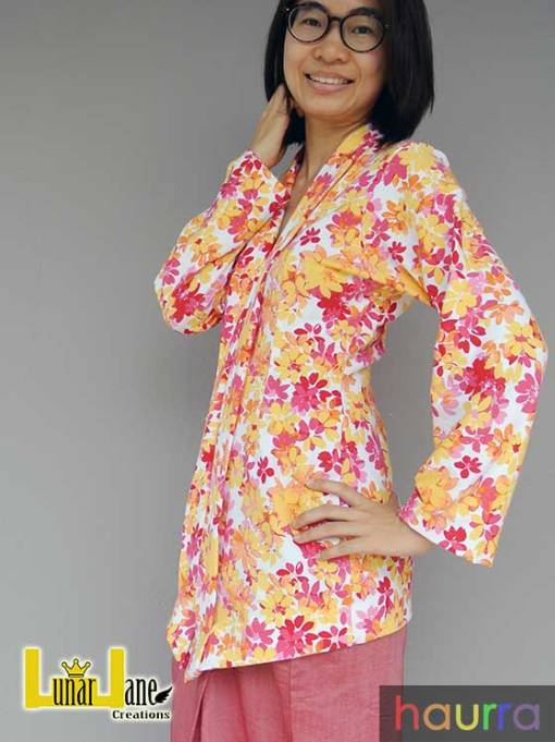 Kebaya Kelepet Dewasa (with nursing option) – PDF Pattern (by Haurra Sewing)