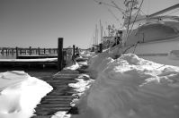 Snow on the dock