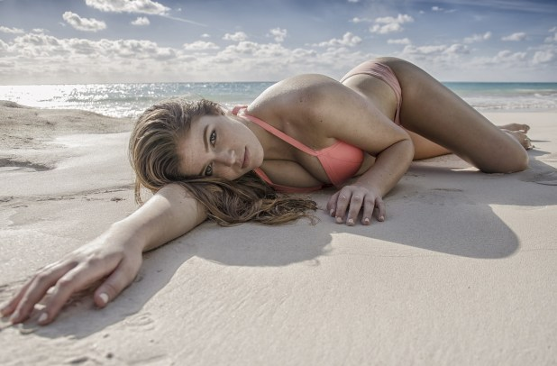 sexy girl on beach