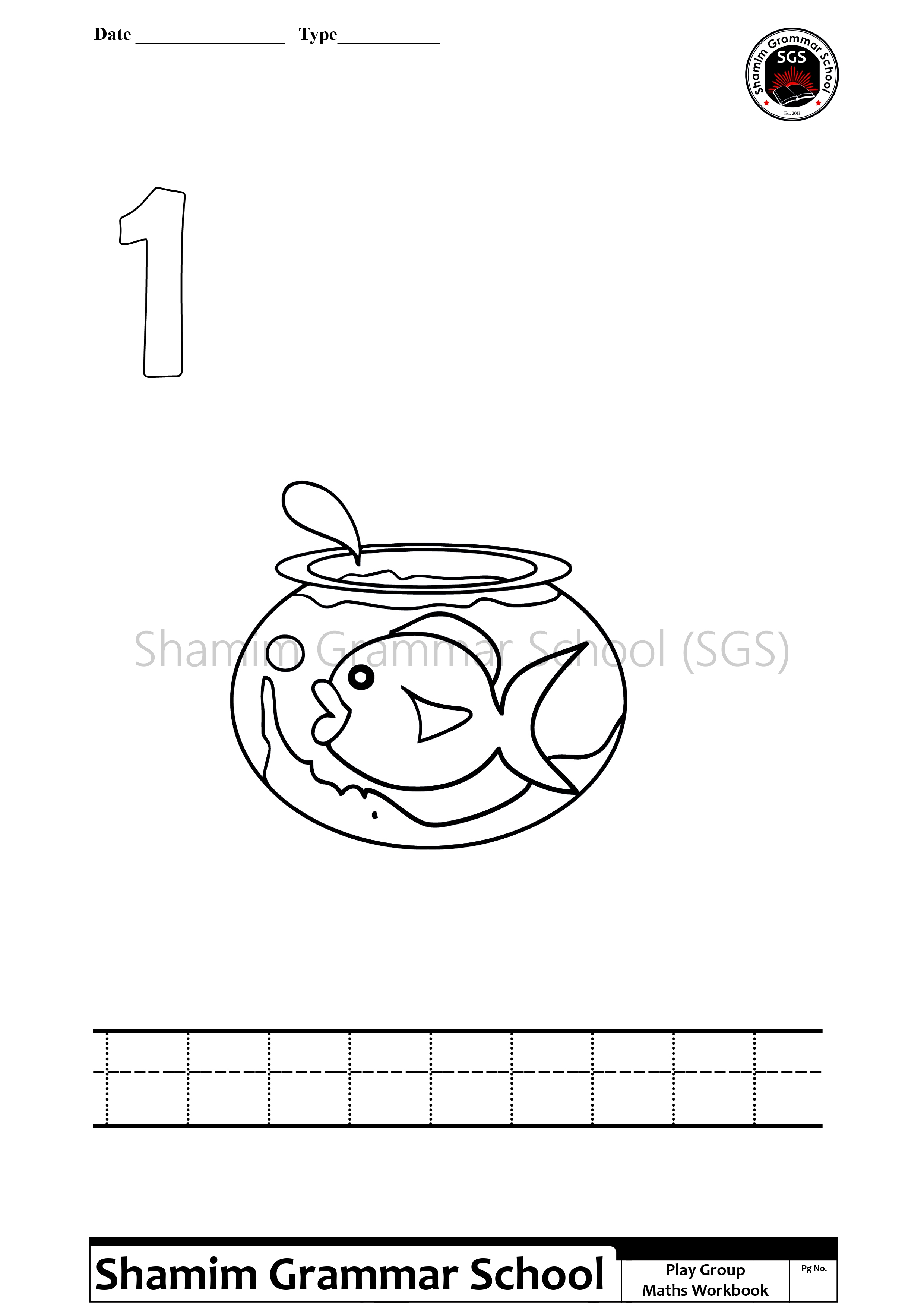 Printable Counting Number Worksheets One To Ten Shamim Grammar School Sgs