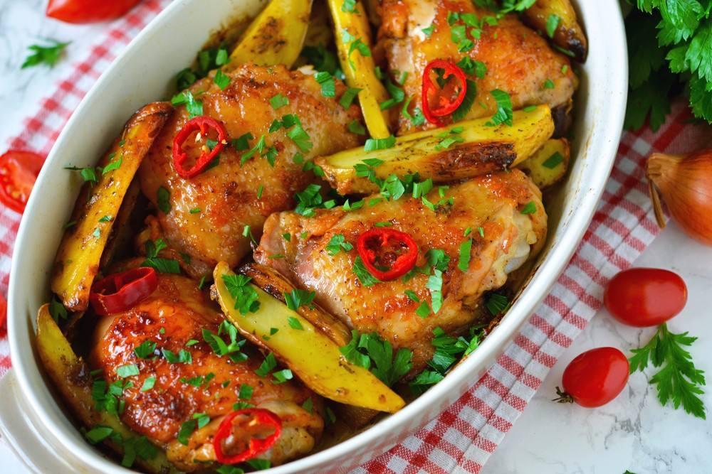 طريقة عمل صينية الدجاج بالبطاطس بالليمون شملولة