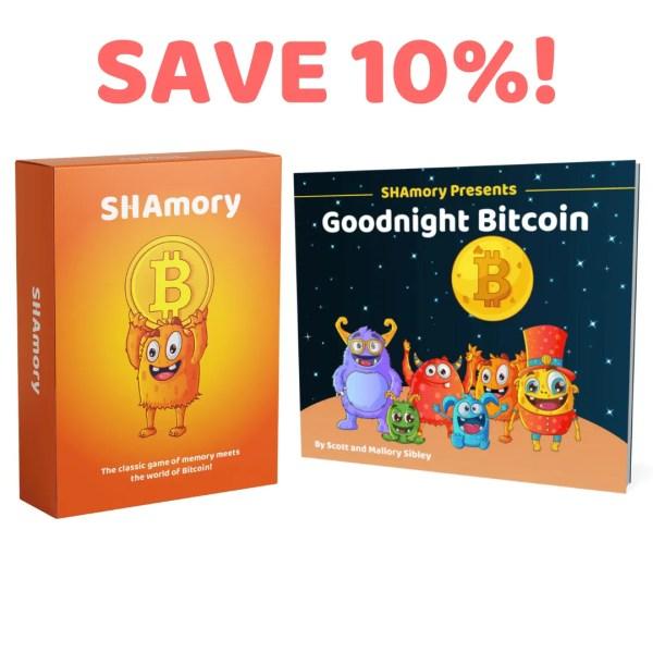SHAmory bitcoin card game and goodnight bitcoin