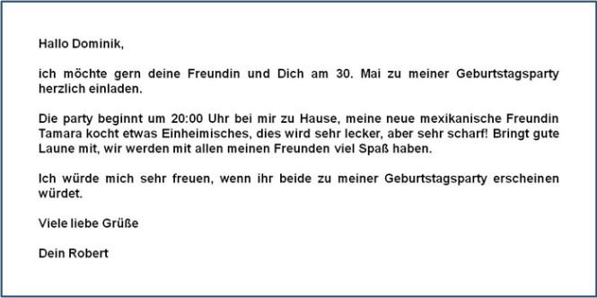Birthday party invitation letter in german cogimbo how to write a party invitation in german study com stopboris Choice Image