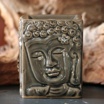 Aromalampe buddha brun