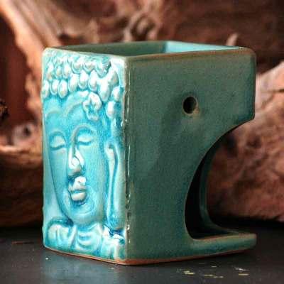 Duftlampe Buddha turkis