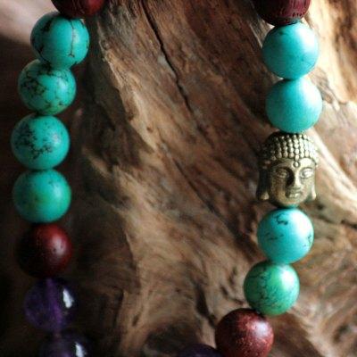 Chakra armbånd pande- og halschakra 1