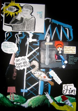 Clydebank Comic Art boards