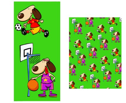 Sport Dog Wrapping Paper