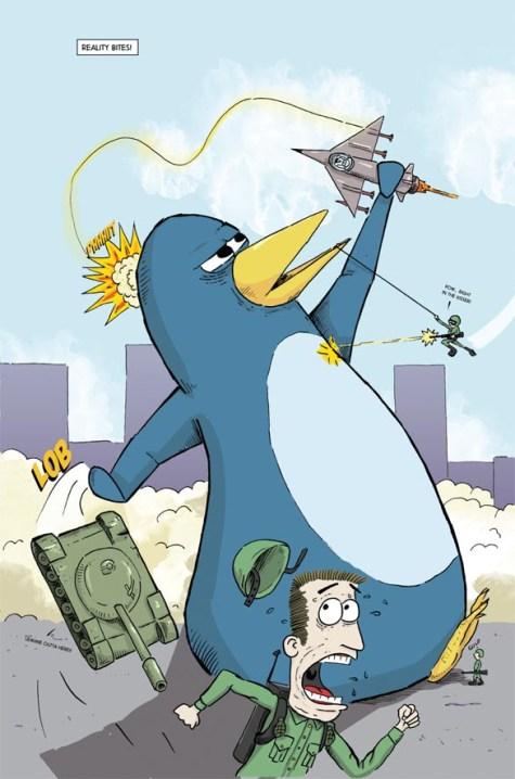 Splash page from Mega Penguin