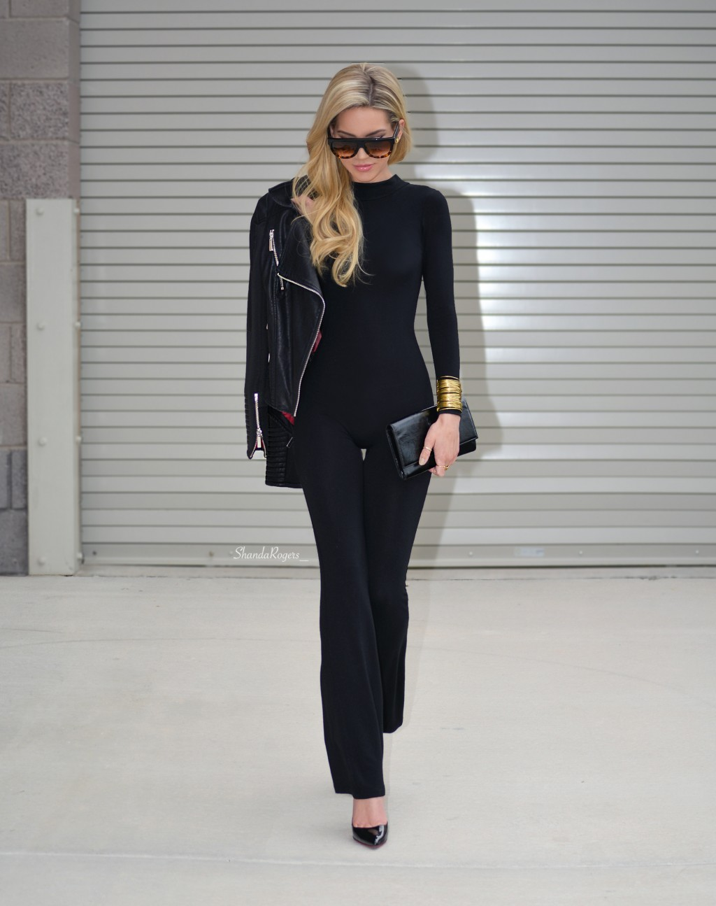 A Catsuit And Biker Jacket