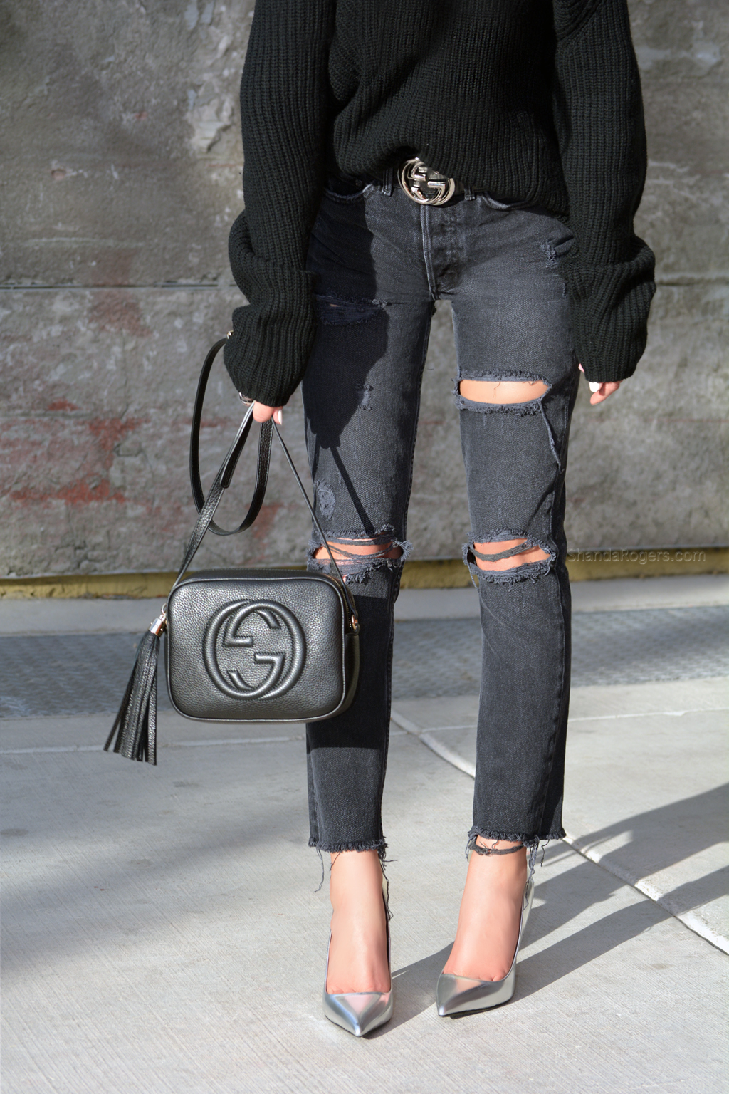 Chunky Knits & Dark Denim