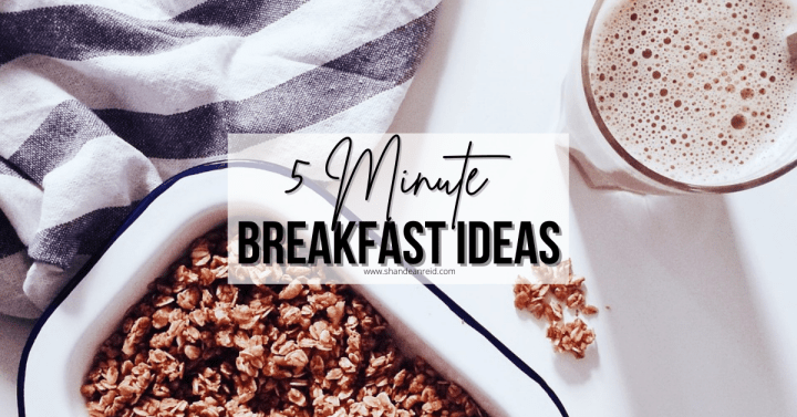 5 Minute Breakfast Ideas for the Busy Mom