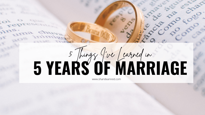 Five Things I've Learned in Five Years of Marriage