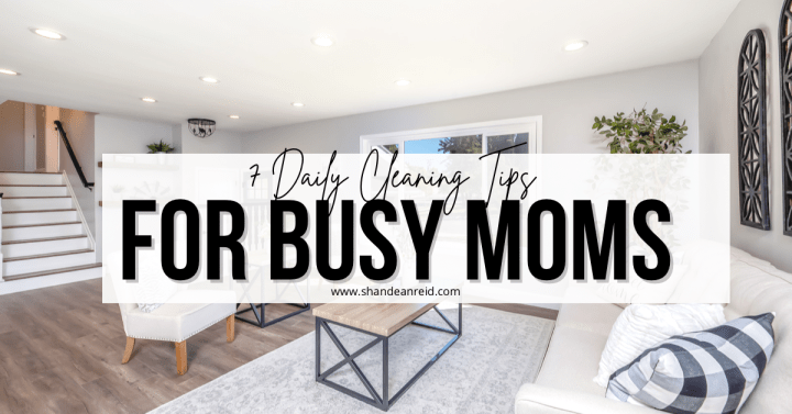 7 Daily Cleaning Tips for Busy Moms