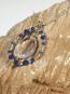 "Sea Opal Glass Pendant on 18"" chain"