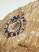 "Sea Opal Glass Pendant on 18"" chain"