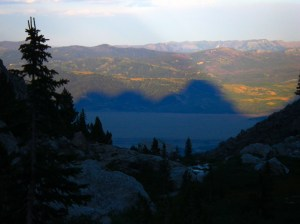 Shadow of the Tetons in Jackson's Hole