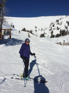 Stormy after skiing Rendezvous Bowl