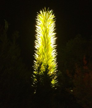 Chihuly glass tree