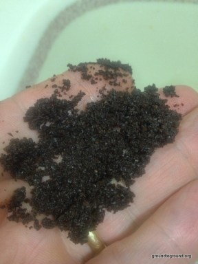 handful of coffee grounds