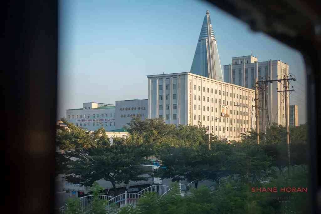 The Ryugyong appears from the distance in Pyongyang