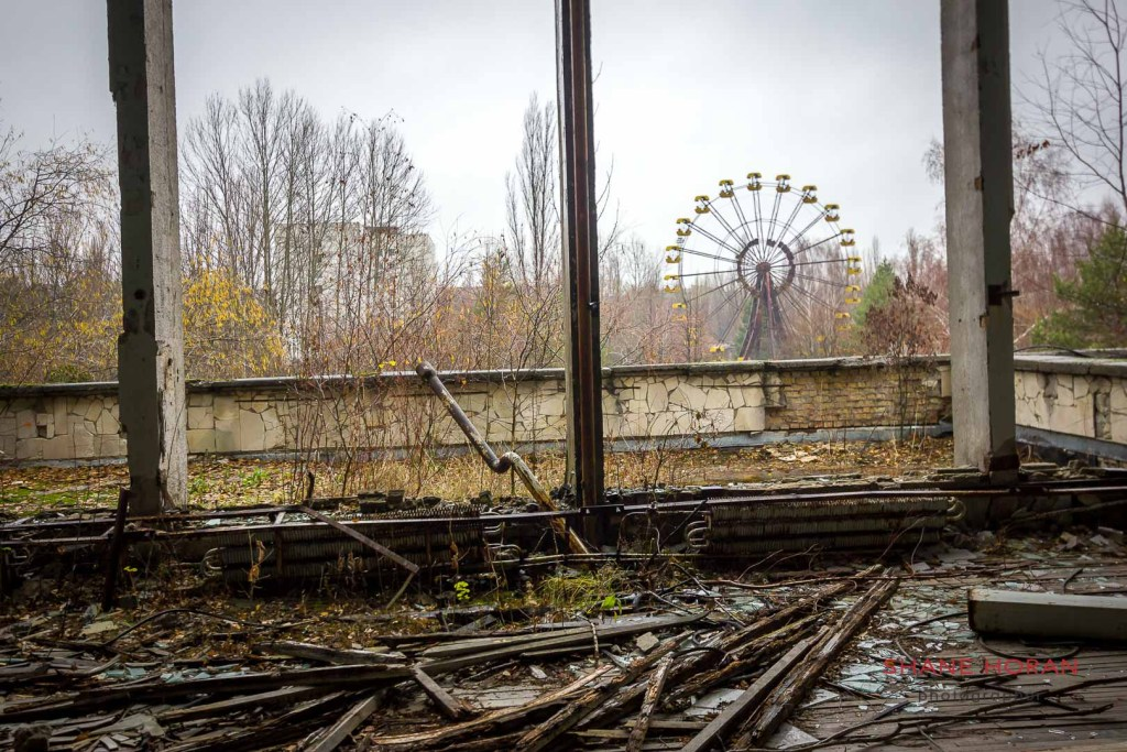 Abandoned big wheel at Pripyat, Ukraine