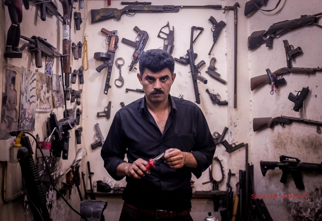 Weapon repair man in Erbil, Iraq