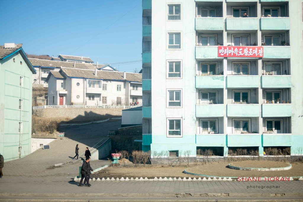 Small town outside Sinuiju, North Korea