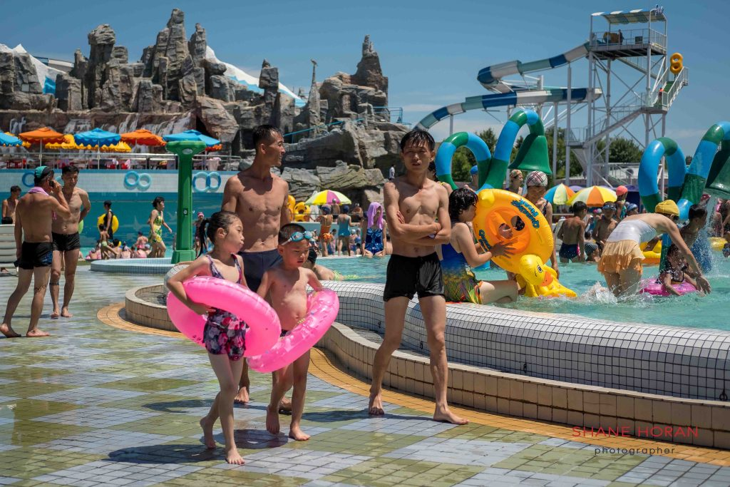 Big day out at Munsu water park, Pyongyang, North Korea.