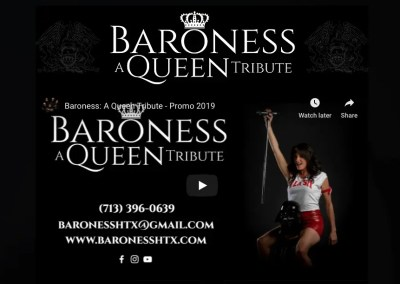Baroness, A Queen Tribute – US Based Queen Tribute Band