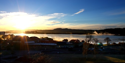 View from the Copthorne Hotel, Rotorua