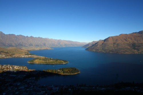View from the Viewing point in Queenstown, New Zealand
