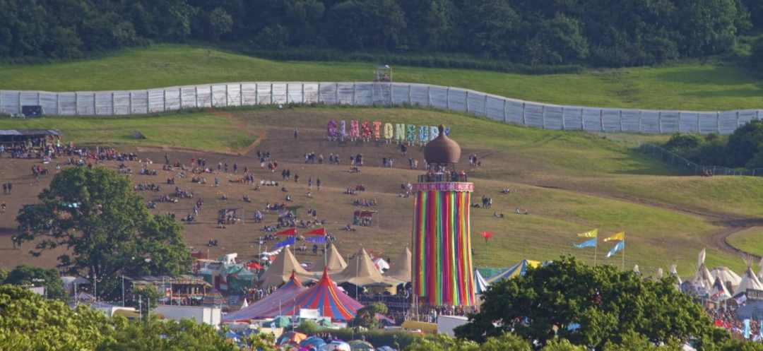 A very muddy Glastonbury 2016