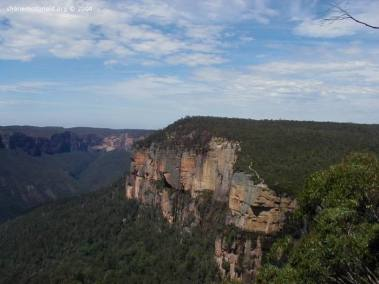 The Blue Mountains, New South Wales, Australia The Blue Mountains gets its name from the eucalyptus oil released into the air, which gives the mountains a blue hue when viewed from a distance.