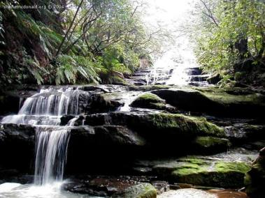 Leura Cascades, New South Wales, Australia The Blue Mountains have many waterfalls and cascades. The walking route allows you to see many of them.