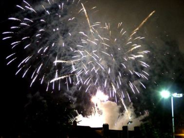 Fireworks over the Houses, Waterford, Ireland