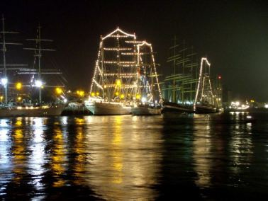 The Tall Ships at Night, Waterford, Ireland