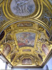 Gilded Ceilings of the Louvre, Paris, France