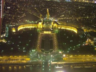 Trocadero by Night, Paris, France The Chaillot Quarter As seen from the top of the Eiffel Tower.