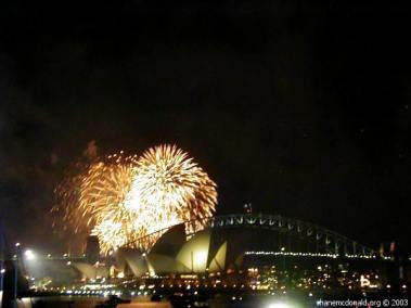 New Years Eve Fireworks, Sydney, Australia Millions of dollars of pyrotechnics used for the display.