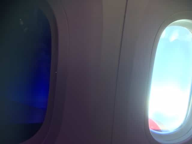 Virgin Atlantic Premium Economy Review - The Boeing 787 Dreamliner has no window shades