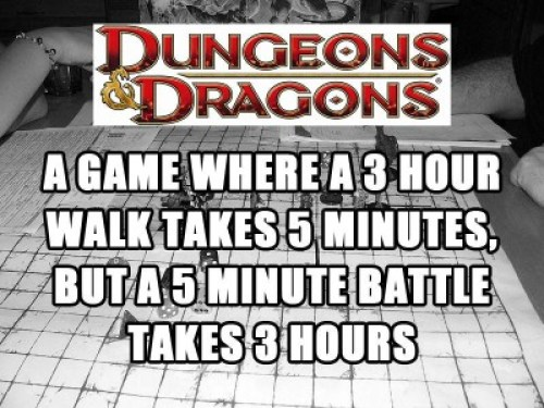 D&D 5 minutes vs 3 hours meme