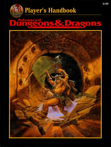 AD&D Players Handbook 2nd Edition Revised