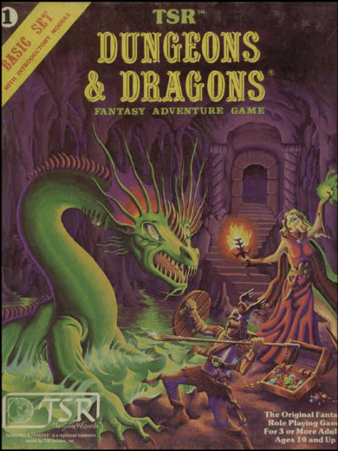 D&D Basic Set 1st Edition Second Box (Erol Otus)